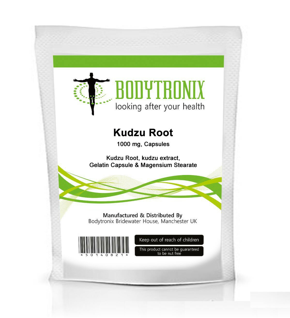 KUDZU ROOT 1000mg Capsules Bodytronix Natural Supplement for Hangover, Menopause