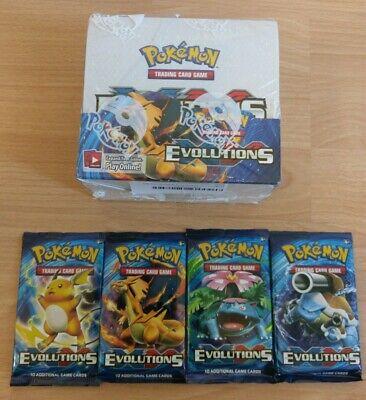 Pokemon Evolution Booster - jedes Artwork - Englisch - Neu XY12 4x Evolutions  12 Booster