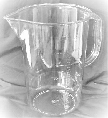 Clear Plastic Pc Beaker Cup Mug 3l 5l Large Lab Pitcher W Handle Polycarbonate