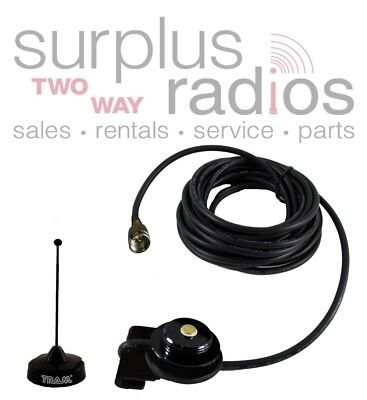 Black Tram Trunk Mount Vhf Antenna Kit Motorola M1225 Cm300 Cm200 Cdm750 Cdm1250