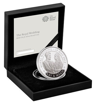 2018 Great Britain The Royal Wedding Silver Proof £5 Coin GEM Proof OGP SKU53793
