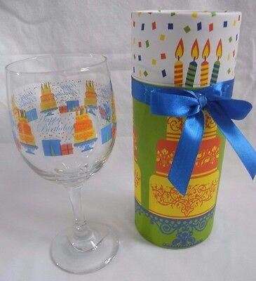 Wine Glass in Decorative Box features Happy Birthday! - wine lover GIFT idea!](Wine Glass Decorating Ideas)