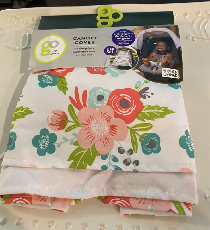 GO by Goldbug Floral Canopy Car Protection Seat Cover Breathable Provides UPF 50
