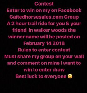 Contest to win a free trail ride in June 2018