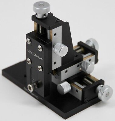 Optosigma Tas-5l Xyz Axis Leadscrew Translation Stage 15mm Travel W Base Mount