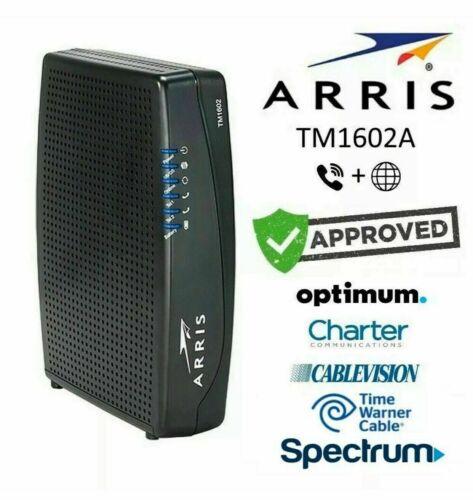 Arris TM1602A Docsis 3.0 16x4 Telephony Cable Modem Optimum Spectrum Cablevision