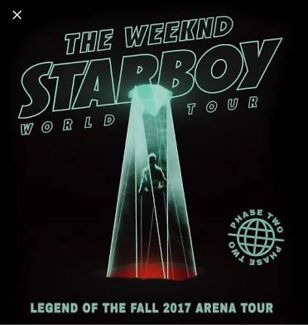 2 x Tickets for The Weeknd Concert Section 42 Sat 2/12
