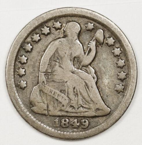 1849-o Liberty Seated Half Dime.  Fine.  146813