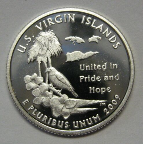 2009-S Virgin Islands Gem DCAM Silver Proof Territory Quarter Stunning Coin