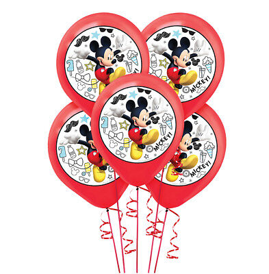 Mickey Mouse Latex Balloons Boys Birthday Party Decoration Color Printed ~ 5 pcs](Mickey Birthday Decorations)