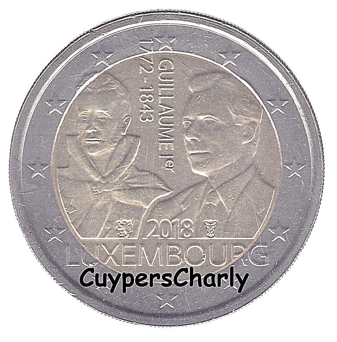Luxemburg 2018 II 2€ UNC Groothertog Willem I (Direct Beschikbaar)