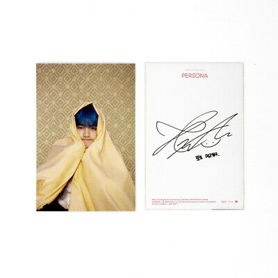 [BTS]MAP OF THE SOUL:PERSONA Official Postcard / Boy With Luv Postcard / V