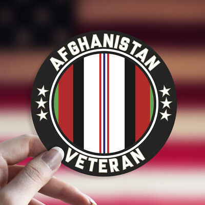 Afghanistan Veteran Decal/Sticker Car Window Round Die Cut Enduring -