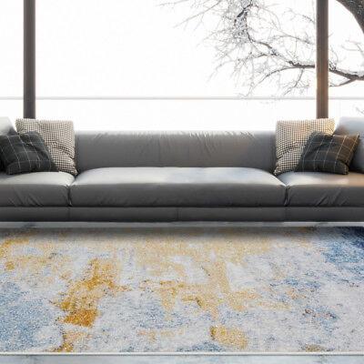 Moroccan Easy Living Multi Graffiti Area Rugs Blue Trendy Decor Floor Carpet Rug - Blue Area Teppich