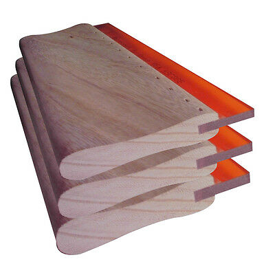 3pcs 6.3 16cm Screen Printing Squeegee Silk Screen Hand Tool Wood Ink Scraper