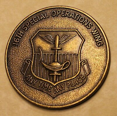 16th Special Operations Wing Any Time Any Place Air Force Challenge Coin