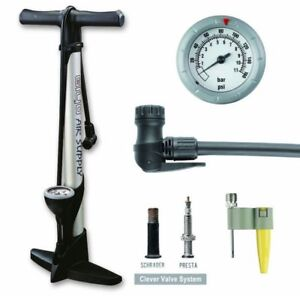 GIYO High Pressure Bicycle Bike Floor Air Pump Gauge
