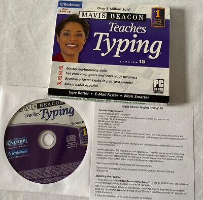 Mavis Beacon Teaches Typing Version 15 CD-ROM PC Windows 2000 Broderbund 2005