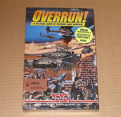 Overrun! by Strategic Simulations, Inc. for Commodore Amiga - NEW