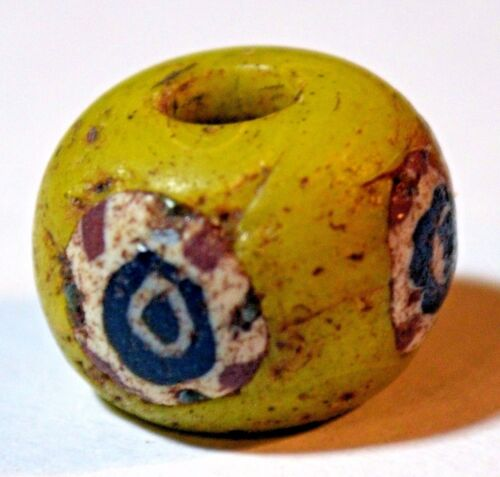 Ancient Yellow Islamic Mandrel Wound Glass Bead Cane Inserts Mali, African Trade