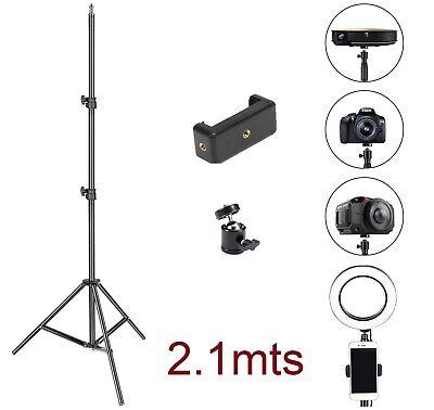 Tripode Soporte Rotula Para Cámara prismáticos móvil vídeo Portátil 2.1m metros