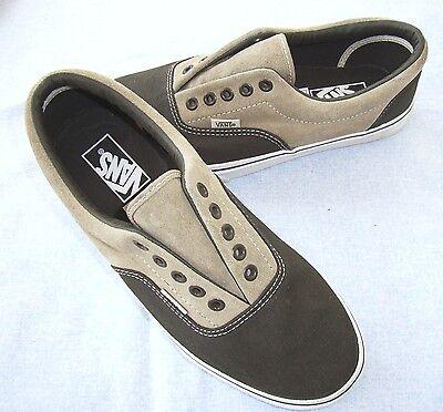 VANS ERA PRO Classic Leder Canvas Sneakers 41 Lace-Up Skate Schuhe Beige /Stone  - Braun Canvas Lace Up Schuhe