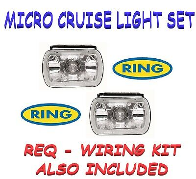 Ring BRL0370 Micro Cruise-Lite Fog Lamp Set + REQUIRED WIRE FITTING KIT INCLUDED
