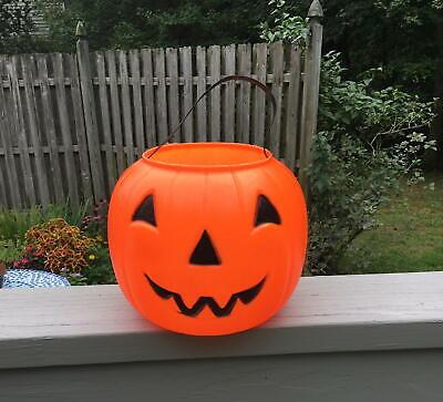 Vintage Empire Halloween Blow Mold Pumpkin Large Trick-Treat Pail - EXC