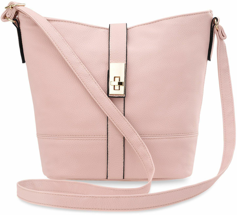bequeme Damen Handtasche Damentasche Schultertasche rosa