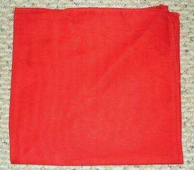 SOLID RED Bandana Bandanna 100% Cotton BIKER DURAG DOORAG HANKY HEADWRAP - Red Handkerchief