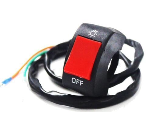 Handlebar Toggle Mount Switch DC 12V Fog Light LED For Motorcycle ATV Bar System