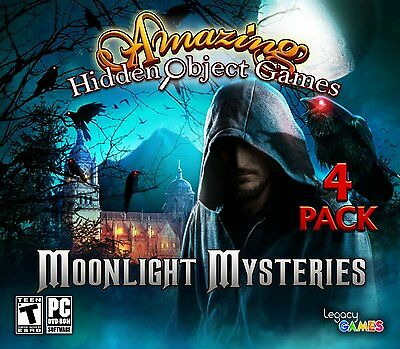 Computer Games - Moonlight Mysteries PC Games Windows 10 8 7 XP Computer hidden object games pack