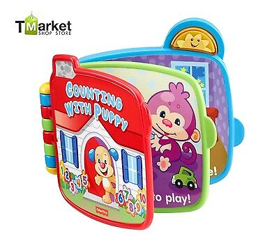 Baby Kids Puppy Book Learning Counting Educational Developmental Music Toy Gift