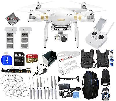 DJI Phantom 3 4K Drone With 12MP Camera! 2 BATTERY HUGE EVERYTHING YOU NEED KIT!
