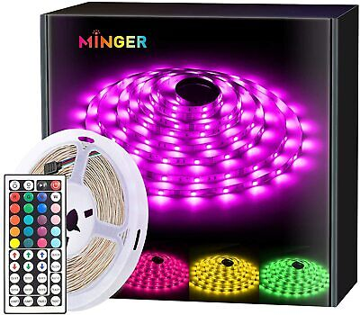 MINGER LED Strip Light with Remote Waterproof RGB Rope Light Assorted Sizes