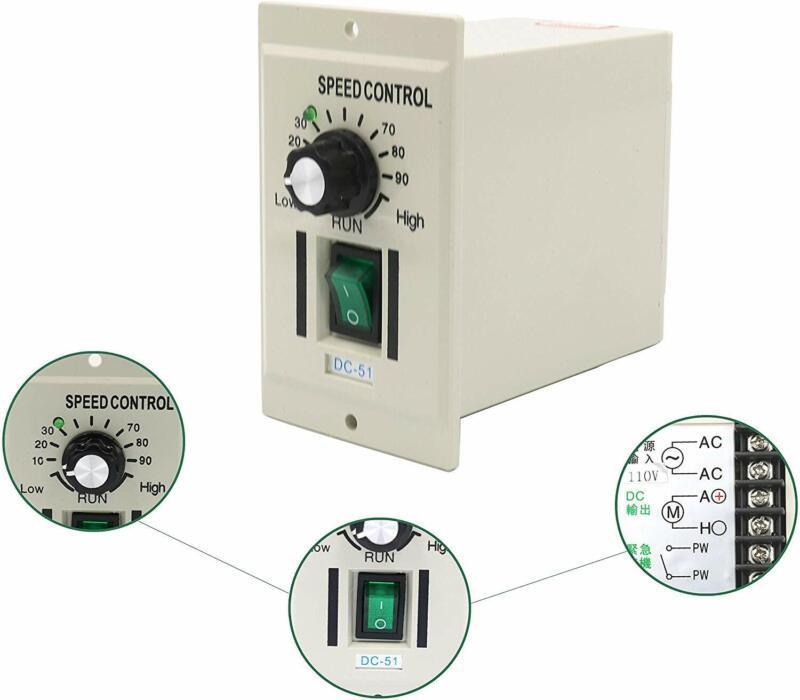 DC 0-90V Adjustable Yaegarden 400W Motor Speed Controller Speed Regulator AC110V