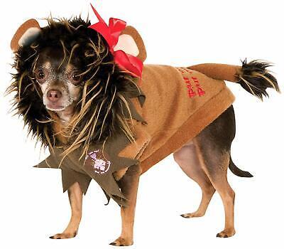 Dog Costume Wizard of Oz COWARDLY LION plush hoodie jacket Large 22