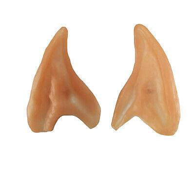 Elf Ears Pointed Latex Prosthetic Tips Angel Fairy Pixie Goblin Hobbit MK