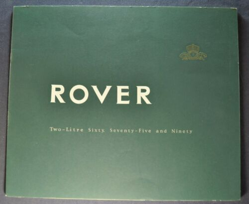 1956-1957 Rover 60 75 90 Prestige Catalog Sales Brochure Excellent Original