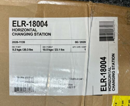 New ECR4Kids ELR-18004 Horizontal Baby Changing Station White Wall Mountable
