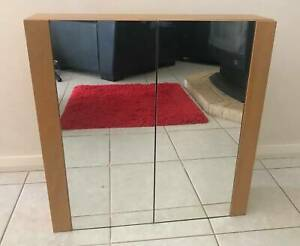 Bathroom Cabinet with 2 mirrored doors