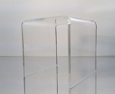 """4 pack of Clear Acrylic Square Riser Display Stands 6 x 6 x 6"""""""