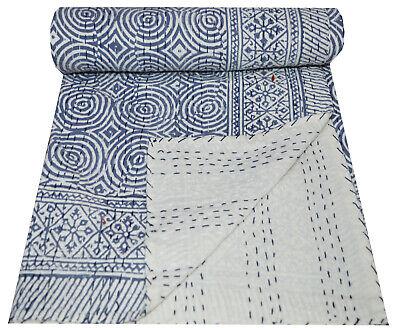 Handmade Cotton Indian Applique Kantha throw bed Throw Single size quilt new cotton ralli gudari 22