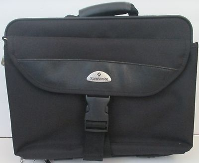 Samsonite laptop computer briefcase travel carry on bag 15x11x4 black