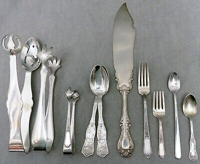 French Vintage Silver Plate Flatware Ten Vintage Silver Plated Dinner Spoons French Antique Silverware Vintage Dining 1920/'s Paris Chic