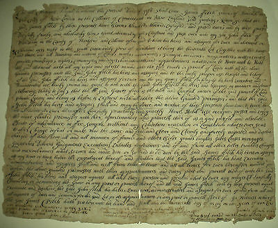 1696 COLONIAL CONNECTICUT DEED REVEREND JAMES FITCH &SON CAPTAIN JOHN FITCH vafo