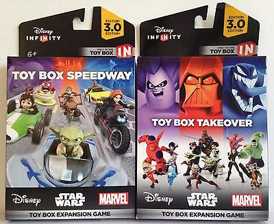 NEW Disney Infinity 3.0 Edition Toy Box Take Over & Speedway Expansion Games (Toy Box Games)
