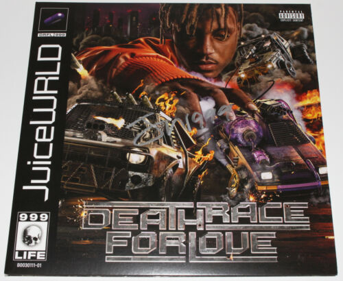 JUICE WRLD SIGNED DEATH RACE FOR LOVE ALBUM VINYL RECORD LP COA DRFL RAPPER RIP