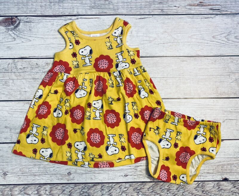 Hanna Andersson Peanuts Snoopy Dress NEW Size 80 / 18-24 Months