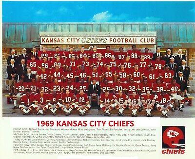 1969 KANSAS CITY CHIEFS 8X10 TEAM PHOTO FOOTBALL NFL PICTURE NFL KC -